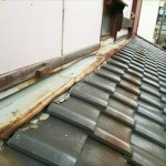 袖ケ浦市の外壁壁きわ板金交換工事