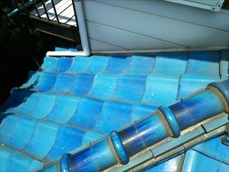 富津市 雨漏り箇所上部の屋根