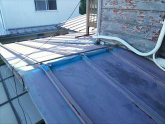 木更津市の瓦棒屋根の棟板金交換工事