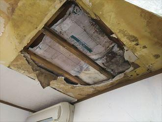 木更津市 室内の雨漏り状況