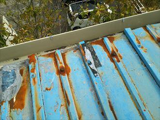 君津市 雨漏り箇所上部の屋根