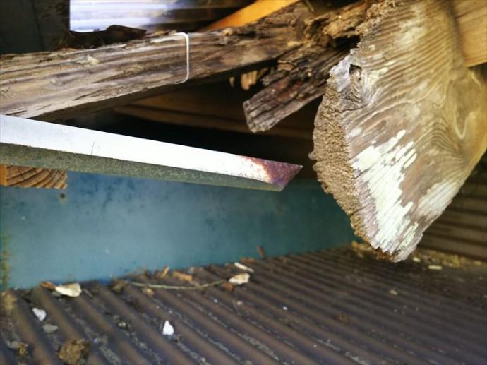 木更津市 雨漏りの影響による屋根下地の傷み