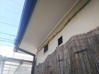 千葉市美浜区磯辺にて経年劣化で剥がれてしまった軒天の補修と併せて波板交換アフター