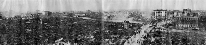 関東大震災 日本橋の様子