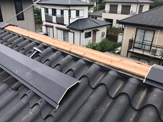 棟板金新規貫板の交換工事