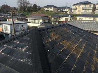 市原市国分寺台にて台風通過後スレート屋根の調査、屋根塗装工事を検討されました