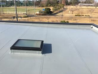 市原市ちはら台にてシート防水された陸屋根をウレタン密着工法でメンテナンスアフター