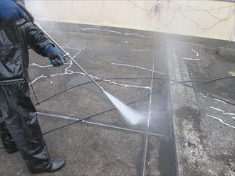 屋上,高圧洗浄