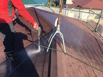 市原市松ヶ島にて経年劣化したスレート屋根に遮熱塗料サーモアイSiで屋根塗装工事