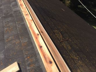 貫板,設置,木材