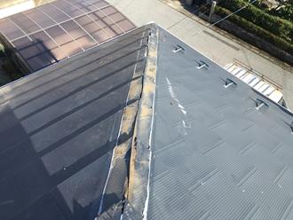 貫板の撤去作業、掃除