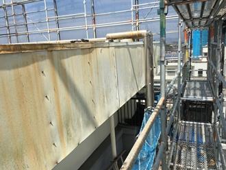 市原市五井にてサビで穴が空いてしまう前に笠木・パラペットの塗装工事を実施