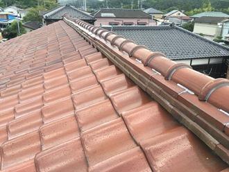 瓦屋根の調査を実施、雨漏りの危険