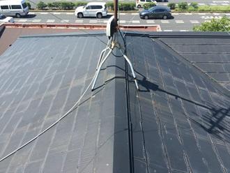スレート屋根の棟板金調査