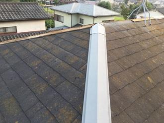 棟板金の調査実施、貫板の腐食