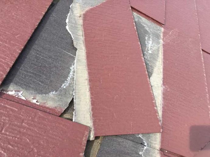 スレート屋根の部分葺き替え工事