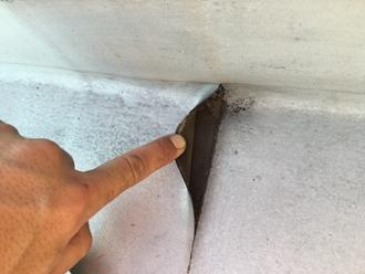 屋上防水、シートの剝離