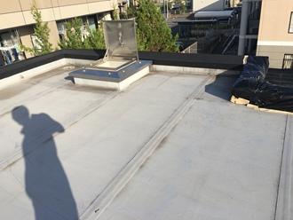 陸屋根の調査実施、平場