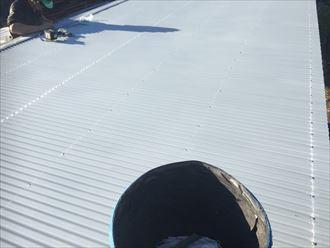 木更津市 屋根材設置完了