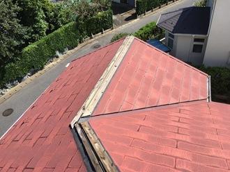 棟板金の飛散調査、雨漏りの可能性