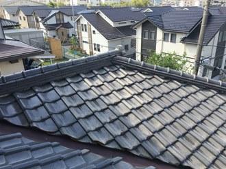 市原市光風台にて瓦屋根の台風被害、屋根葺き替え工事をご希望でした