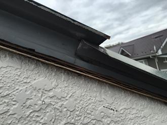 大屋根ケラバの捲れ被害