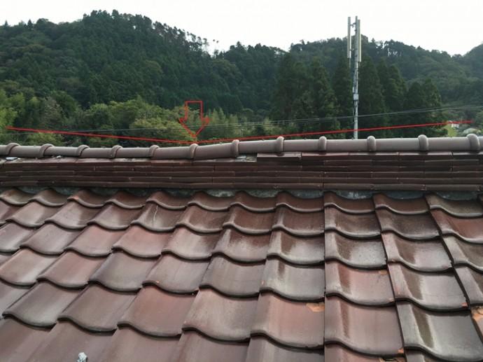 棟瓦の沈み、棟取り直し工事