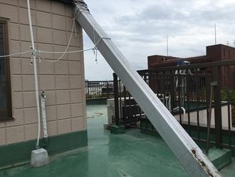 屋上防水の調査実施