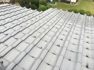 瓦屋根の調査を実施