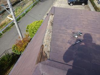 市原市で棟板金取替の屋根修理を行いました
