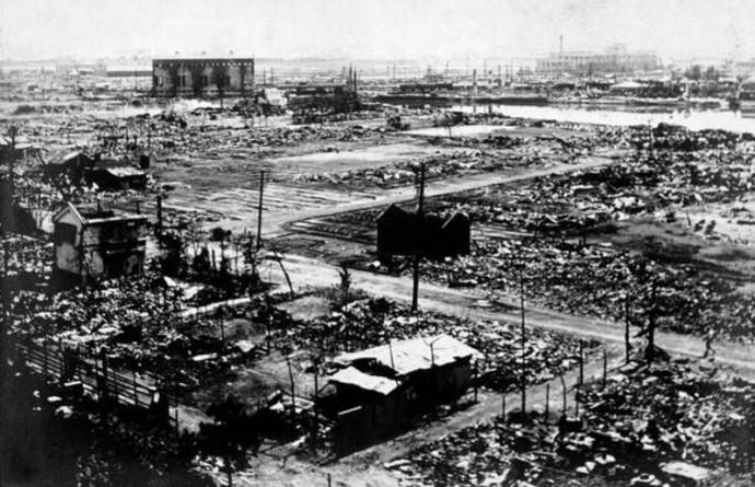 関東大震災後の焼け野原