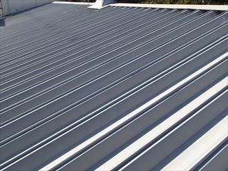 木更津市で工場の折板屋根調査、錆による腐食