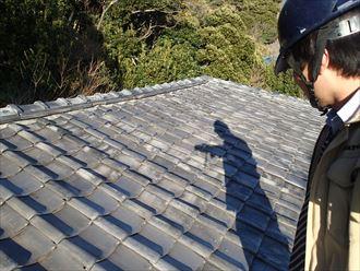 富津市の屋根のズレ瓦割れ調査