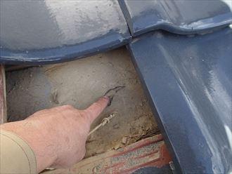 富津市 防水紙の破れ