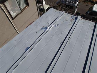 東金市の屋根葺き替え工事前事前確認