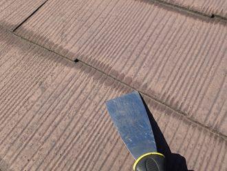 縁切りされていないスレート屋根