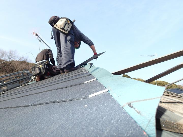 屋根材だけじゃなく防水紙にもこだわりを