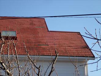 木更津市 屋根からの化粧スレートの落下