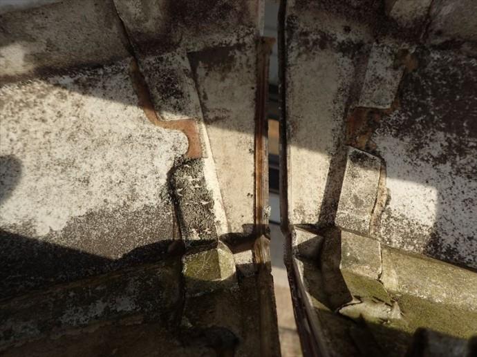 市原市 雨樋の劣化