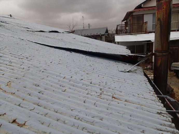 袖ケ浦市 屋根の捲れ