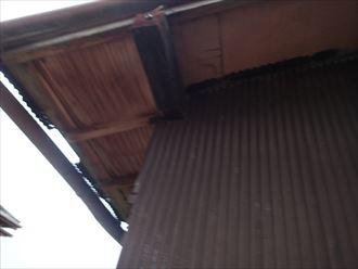 袖ケ浦市 屋根下地の劣化
