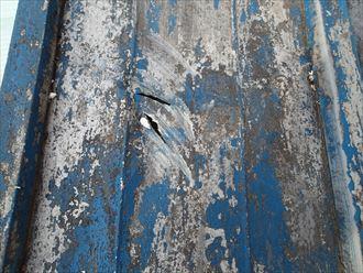 八街市 屋根への損傷