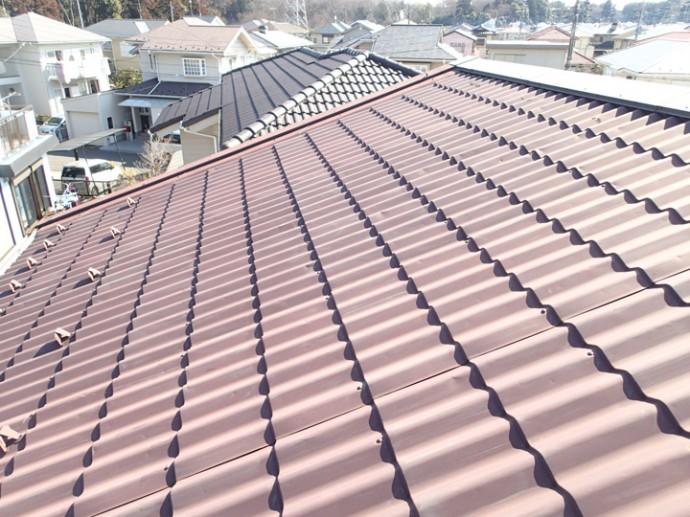 金属川の屋根