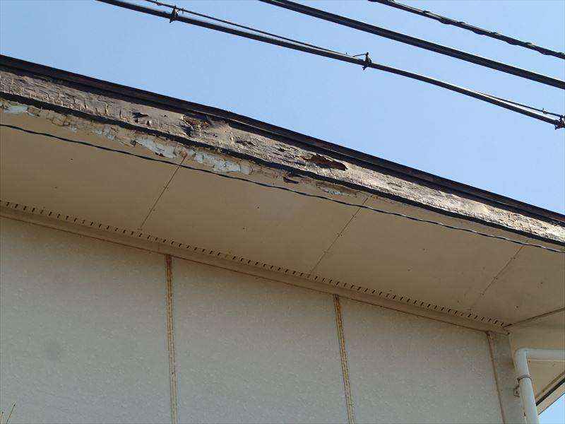 君津市の破風板腐食交換と合わせて板金巻のご提案