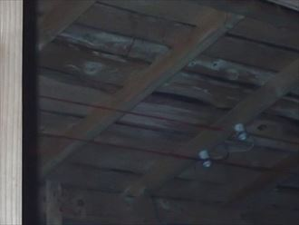 袖ケ浦市 屋根下地の雨染み