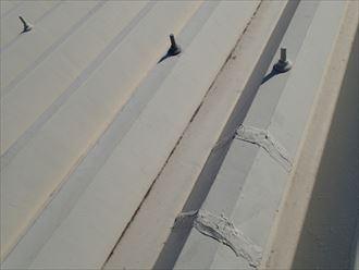 市原市 屋根の補習跡