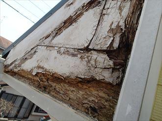 市原市 破風板の腐食