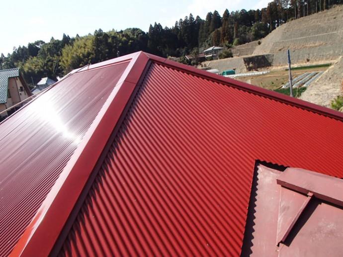 完工した屋根