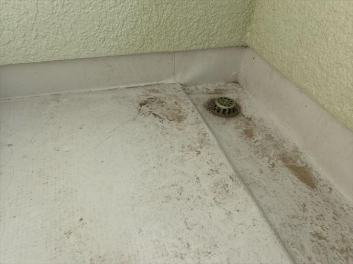 木更津市 シート防水の劣化