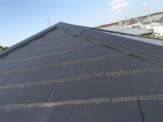 スレート屋根色あせ、塗装時期